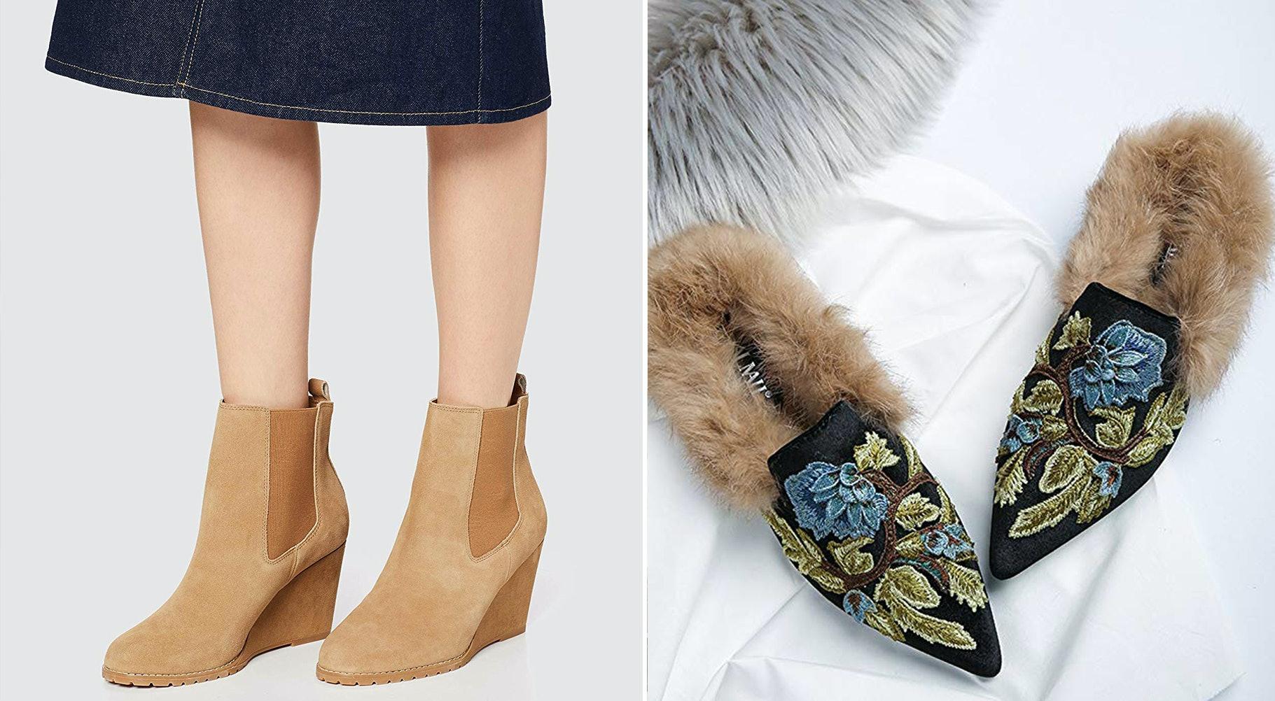 Versatile Look Vegan Suede Hidden Wedge Platform Sneakers Dual Side Zippers
