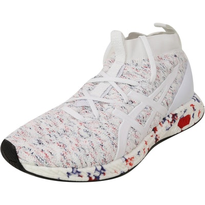 Asics Women's Hypergel-Kan White / Fiery Red Ankle-High Running Shoe