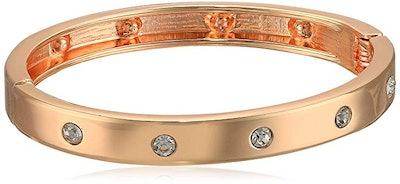 Rose Gold-Tone Hinge Bracelet