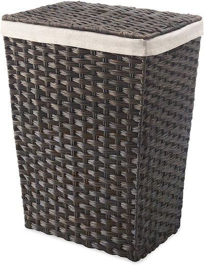 Whitmor Rattique Laundry Hamper With Lid