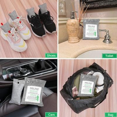 Lxuemlu Bamboo Charcoal Air Purifying Bags (8-pack)