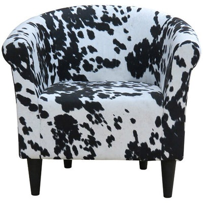 Carrie Patterned Barrel Chair