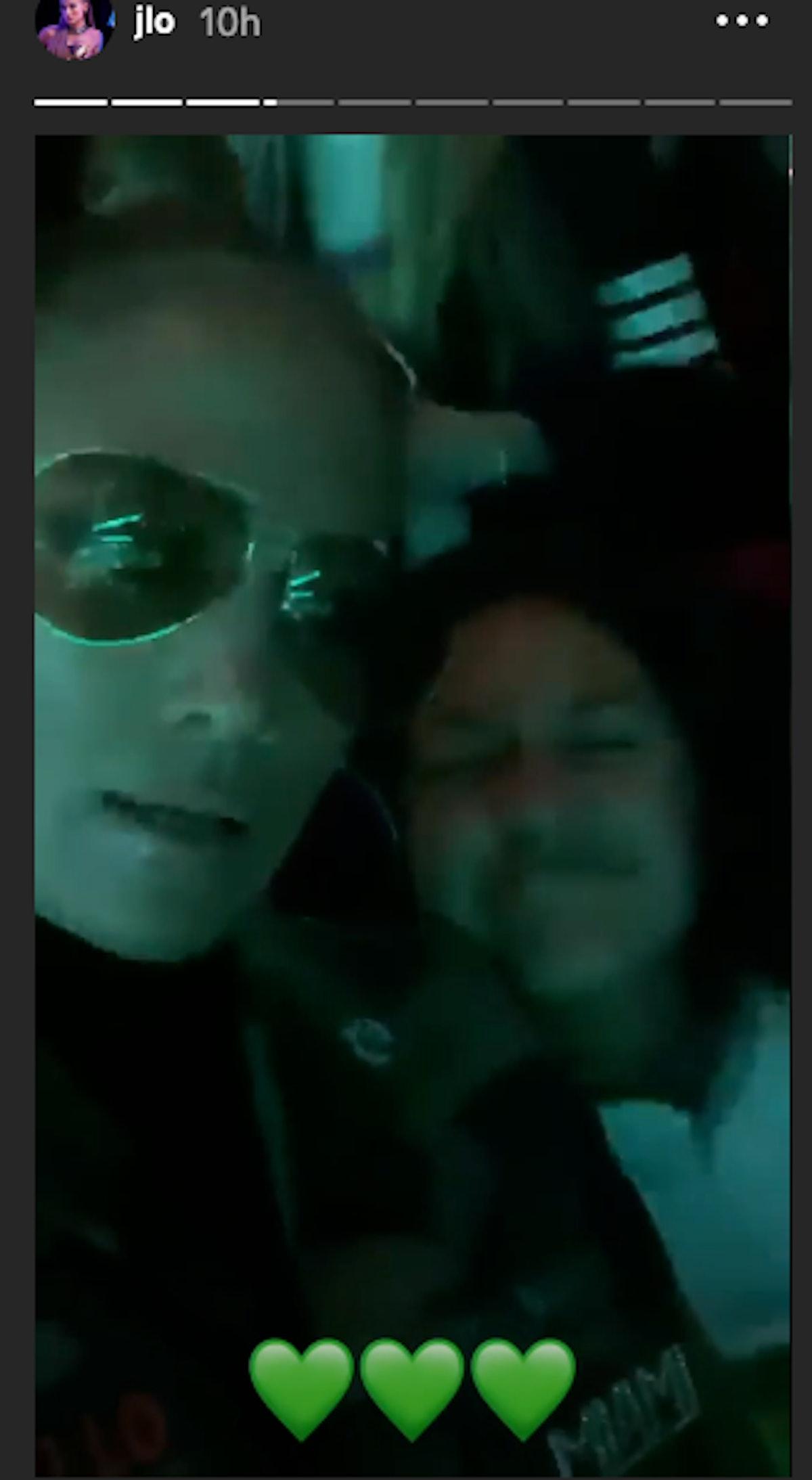 Jennifer Lopez at Billie Eilish concert