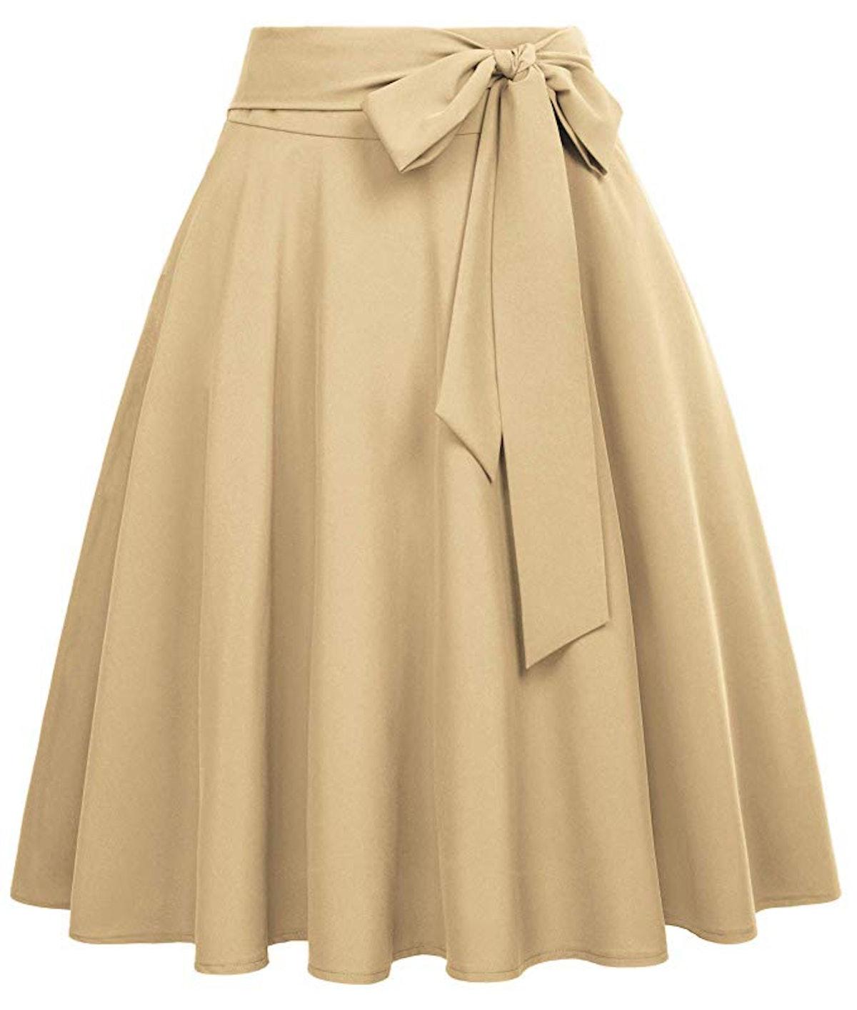 Belle Poque Women's High Waist Skirt