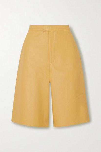 Manu Leather Shorts