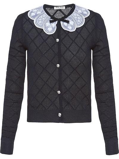 Lace Collar Cardigan
