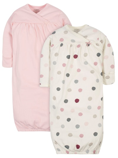 Modern Moments by Gerber Baby Girl Gowns, 2-Pack