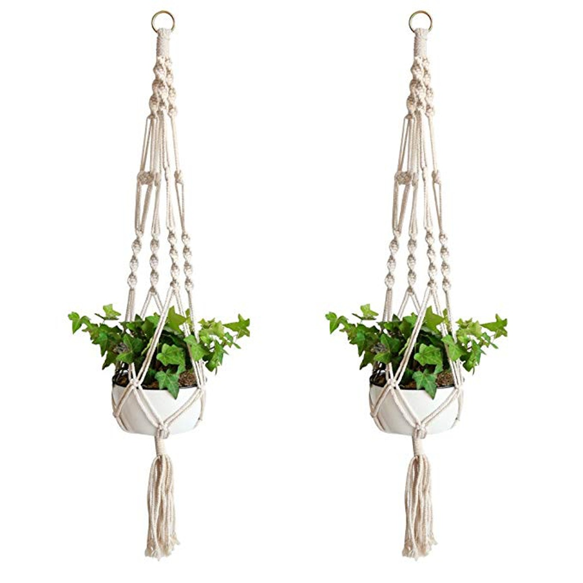 Accmor Macrame Plant Hangers (Set of 2)