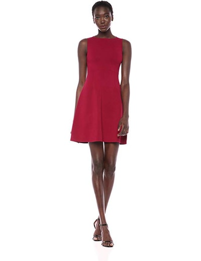 Lark & Ro Ballet Neck Fit And Flare Dress