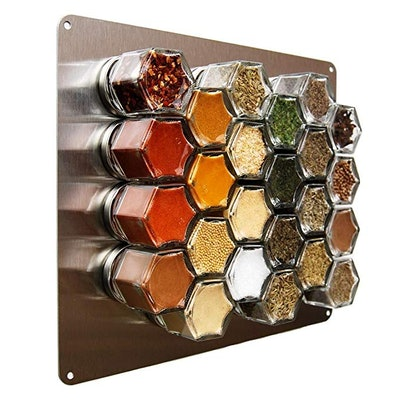 Gneiss Stainless Finish Wall Plate Base for Magnetic Spice Jars