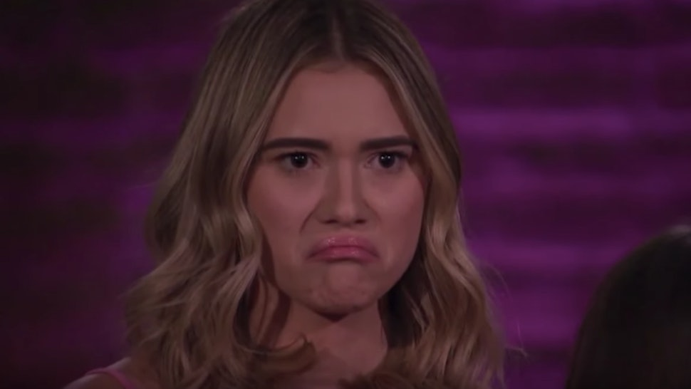 Mykenna Facial expressions on The Bachelor