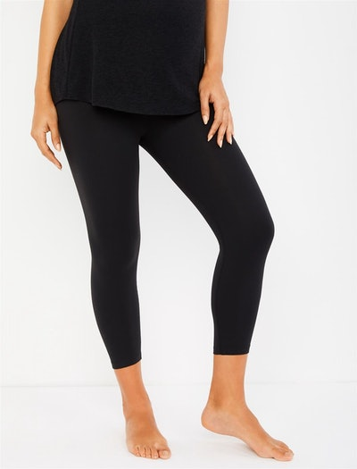 Beyond The Bump Fold Over Belly Crop Maternity Leggings