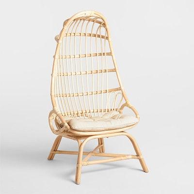 Natural Rattan Fallon Cocoon Chair With Cushion