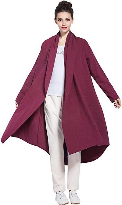 Anysize Soft Linen Cotton Plus Size Cardigan