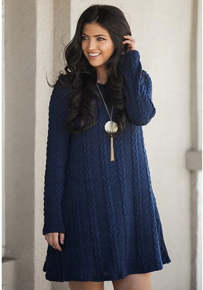 Mansy Knitted Crewneck Dress
