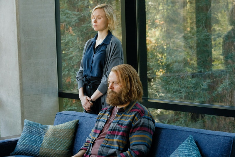 Alison Pill and Nick Offerman in Devs on FX