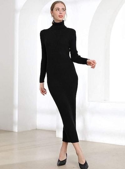 Fincati Cashmere Turtleneck Maxi Dress
