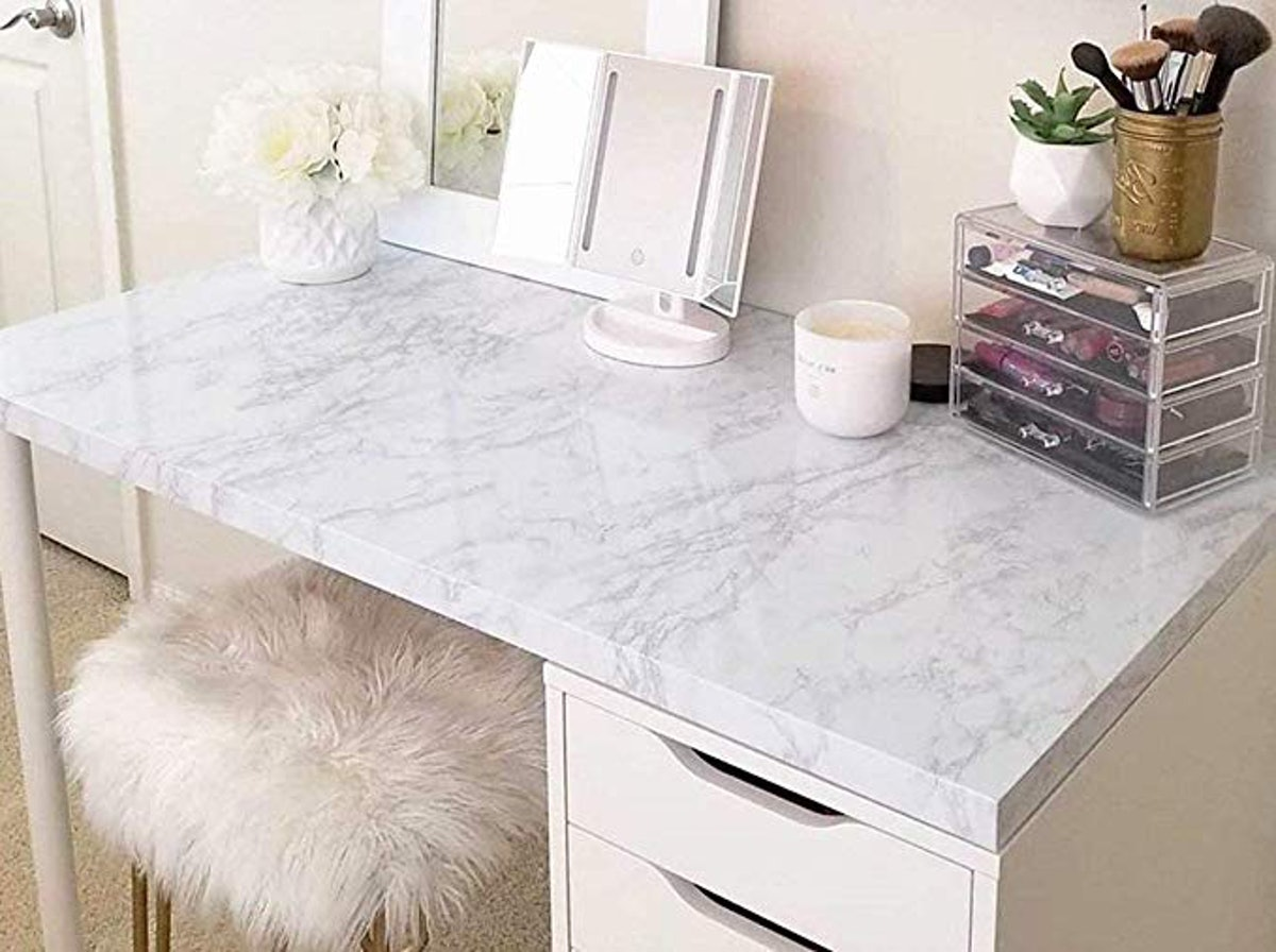 PracticalWs Marble Wallpaper Paper for Old Furniture