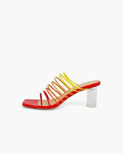 Zoe Sandals Leather Ombre Salsa