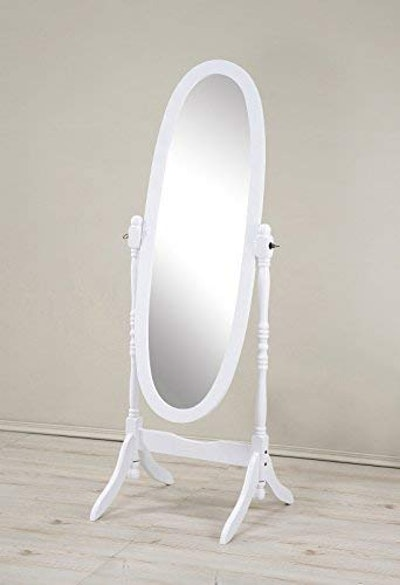 Roundhill Furniture Wood Cheval Floor Mirror