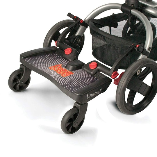 Stroller Kickboard attached to stroller