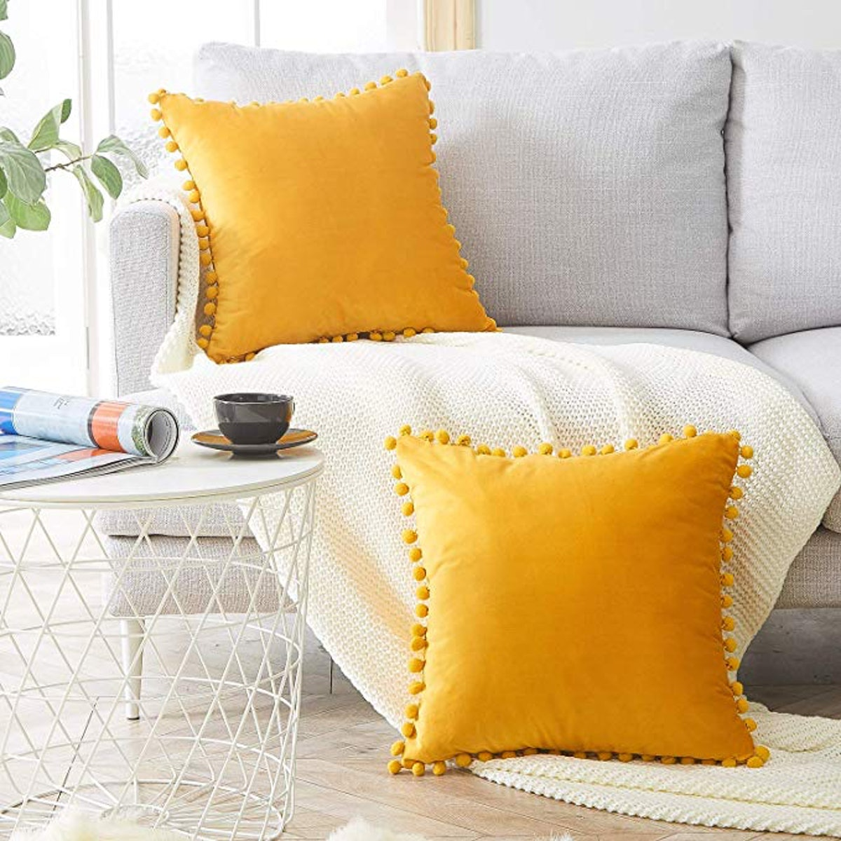 Top Finel Decorative Throw Pillow Cover (2-Pack)