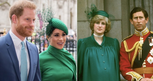 Meghan Markle channeled Princess Diana's green look from decades ago.