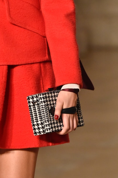 Oscar de la Renta fall 2020 clutch handbag.
