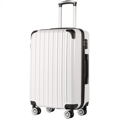 COOLIFE Expandable Suitcase (26.4 x 9.8 x 17.3 Inches)
