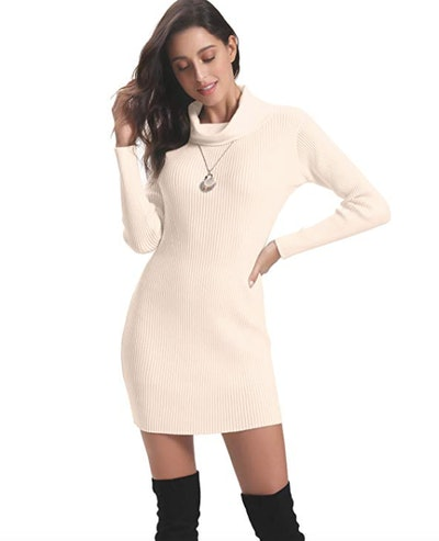 Abollria Turtleneck Knit Dress