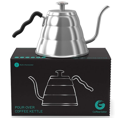 Coffee Gator Gooseneck Kettle With Thermometer (34 Oz.)