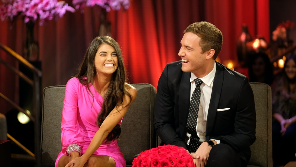 """The Bachelor: Season Finale Part 2"" – Peter and Madison discuss where they left off in the hot seat during the second night of the live special, season finale event of ""The Bachelor,"""