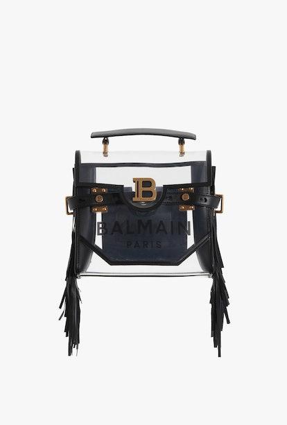Transparent And Black PVC B-Buzz 23 Bag