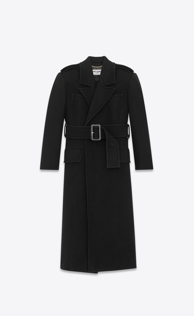 Oversized Belted Coat In Wool And Angora