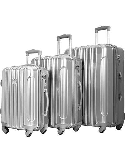 kensie Alma Metallic Luggage 3-Piece Set (22-, 26-, And 30-Inches)