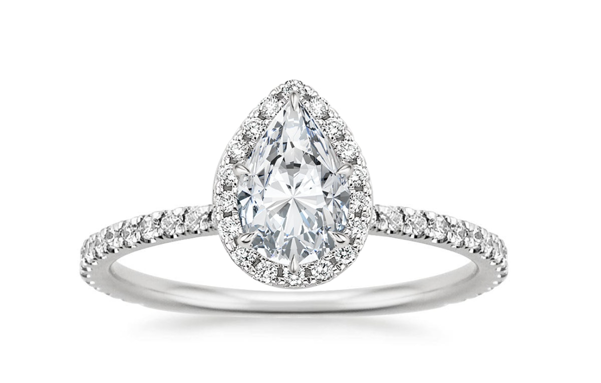 Waverly Diamond Ring (1/2 ct. tw.) with 1.00 Carat Pear Diamond