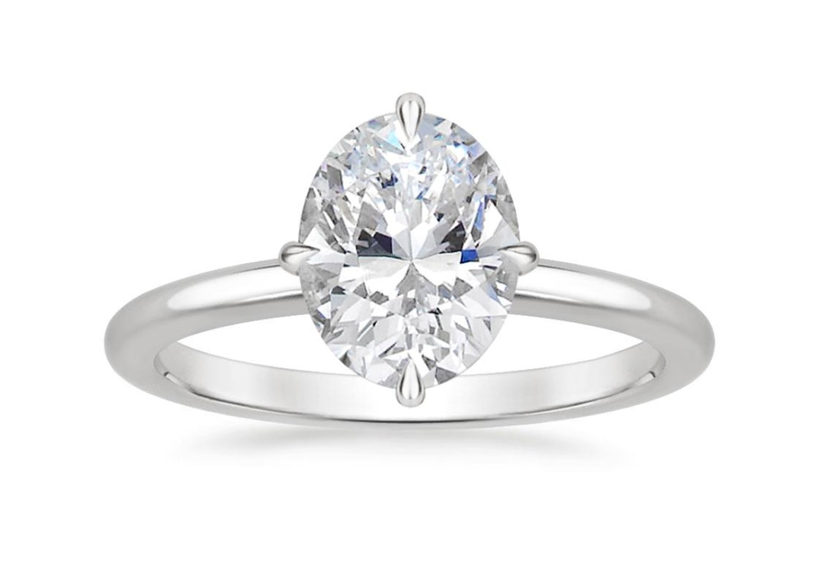 North Star Ring with 3.02 Carat Oval Diamond