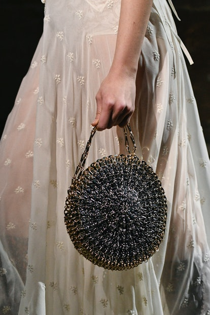Paco Rabanne fall 2020 circular handbag.
