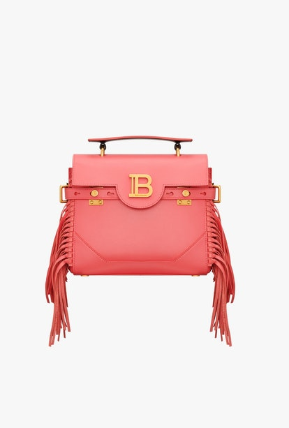 Dark Pink Smooth Leather B-Buzz 23 Bag With Fringe