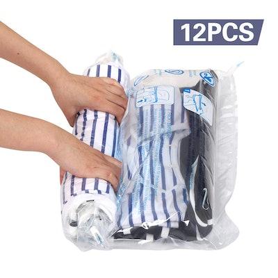 Hibag Travel Compression Bags (12-Piece)