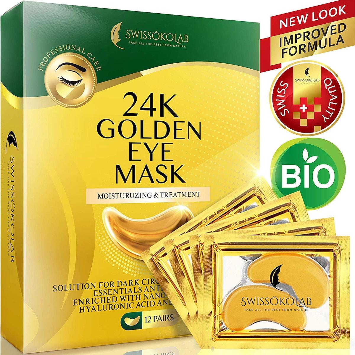 SWISSÖKOLAB Under Eye Gold Mask (12-Pairs)