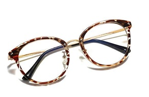 SOJOS Retro Round Blue-Light Blocking Glasses