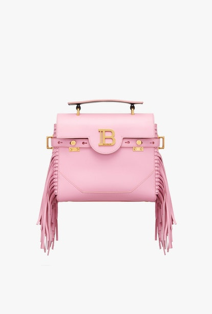 Pink Smooth Leather B-Buzz 23 Bag With Fringe