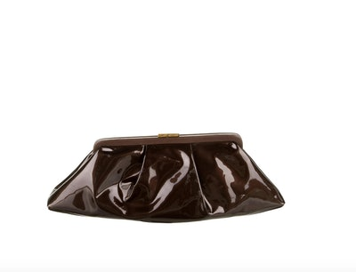 Patent Leather Pouch Clutch