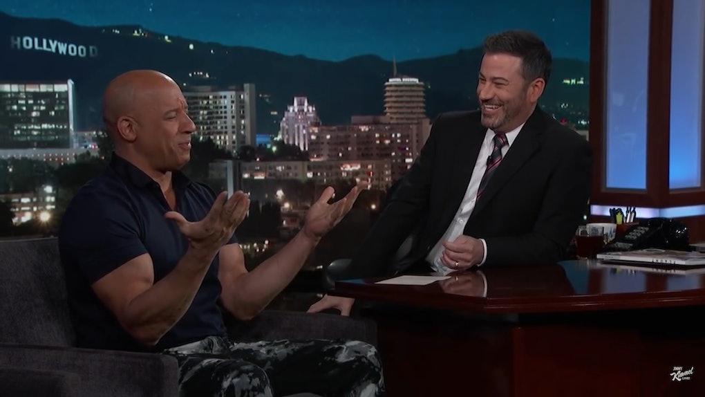 Vin Diesel appears on Jimmy Kimmel Live.