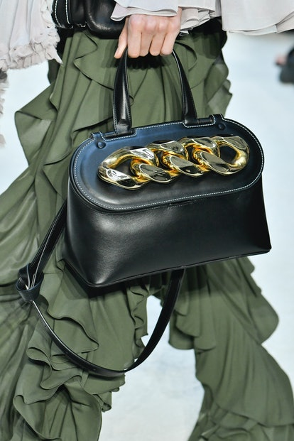 JW Anderson chain-detailed bag at Paris Fashion Week.