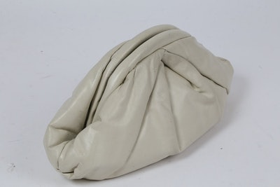 Vintage Unbranded Ivory Leather Pouch Bag