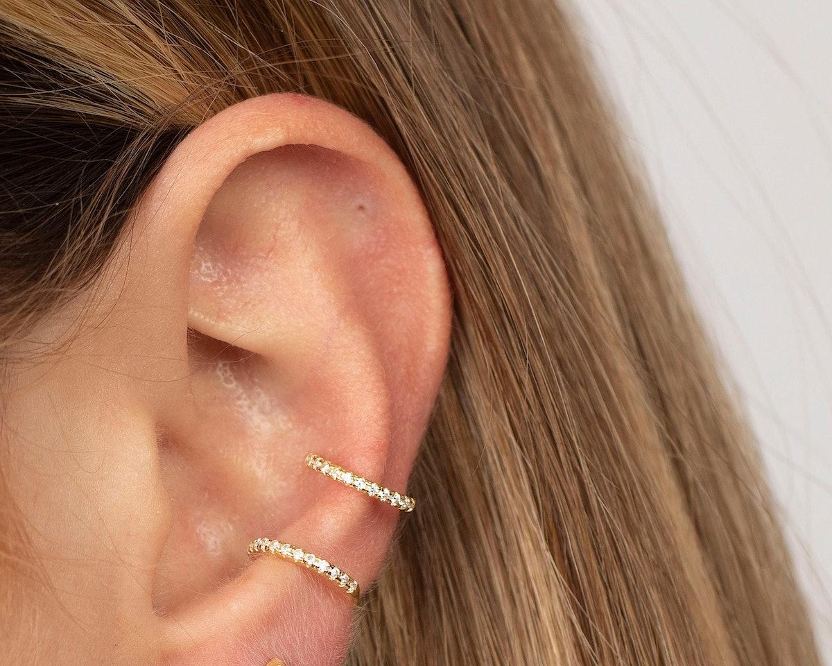 Triumjewelry Tiny Gold Ear Cuff
