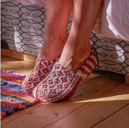 Tibetan Socks Hand Knit Bootie Slippers