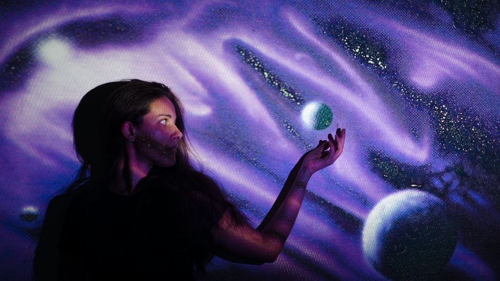 Woman With Two Planets
